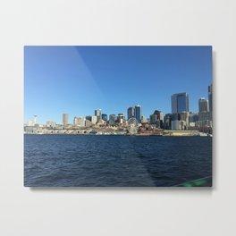 Seattle Ferry Ride Metal Print