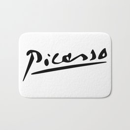 Pablo Picasso Signature, Artworks - tshirt, tee, jersey, poster, tshirts, Print, Prints Bath Mat