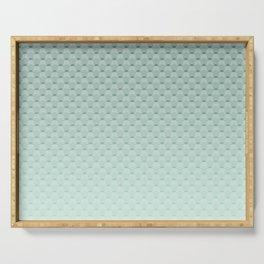 Geometric #turquoise #pattern #monochrome Serving Tray