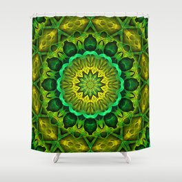 Blooming Forest Guardians Mandala Shower Curtain