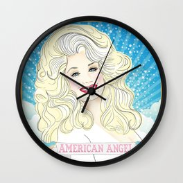 Dolly Parton American Angel Wall Clock
