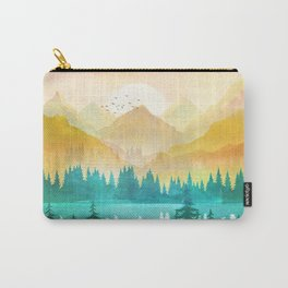 Summer Mountain Sunrise Carry-All Pouch
