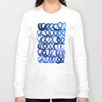 breaking Long Sleeve T-shirts featuring Breaking the waves by Picomodi
