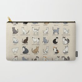 Cat Breeds Carry-All Pouch
