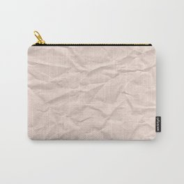 crumpled paper. Kraft paper Carry-All Pouch