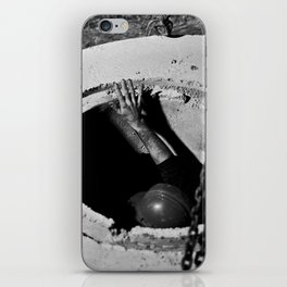 Placing a Manhole iPhone Skin