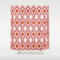 ikat Shower Curtains featuring Ikat by Jay Hooker Designs