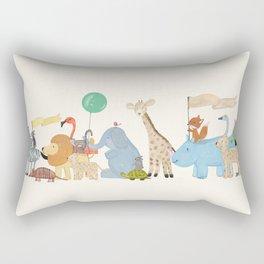 little safari parade Rectangular Pillow