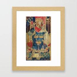 King Arthur Medieval Tapestry Framed Art Print
