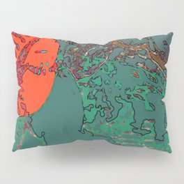 Geography Of My Mind - Digital Artwork  Pillow Sham