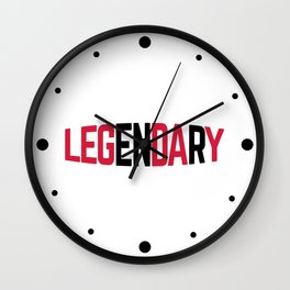 Leg Day Gym Quote Wall Clock