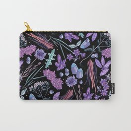 Purple flowers and jewels. Carry-All Pouch