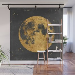 Gold Moon Wall Mural
