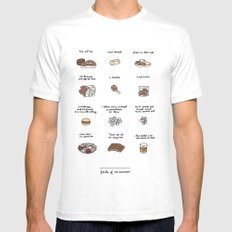 Foods of Ron Swanson Mens Fitted Tee White MEDIUM