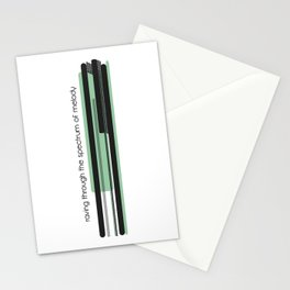 raving through the spectrum of melody Stationery Cards