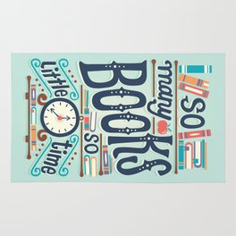 So many books so little time Rug