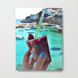 Mulberry Slush Metal Print