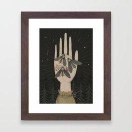 dead head moth Framed Art Print