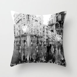 Summer space, smelting selves, simmer shimmers. 19, grayscale version Throw Pillow