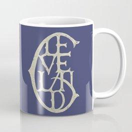 Vintage Cleveland Typography (Dark) Coffee Mug