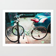 Bicycle Love Art Print