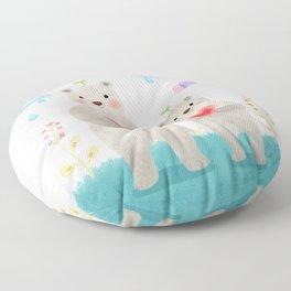 warm heart Floor Pillow