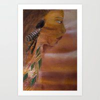 indian Art Prints featuring Indian by Kathleen Schulze