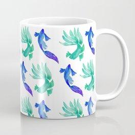 Tropical Fish Pattern (blue and sea foam green palette) Coffee Mug