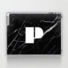 Black Marble - Alphabet P Laptop & iPad Skin
