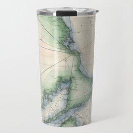 Vintage map of the Massachusetts Coastline Travel Mug