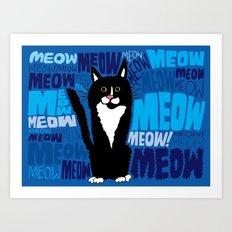Stephen, the cat.  Art Print