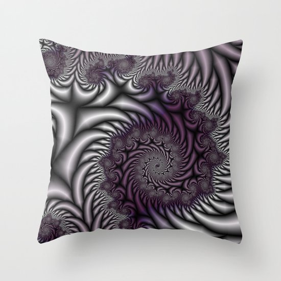 Purple And Gray Decorative Pillows : Purple and Gray Throw Pillow by Christy Leigh Society6