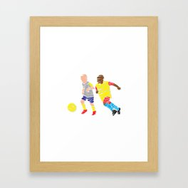 Abstract Soccer player Framed Art Print