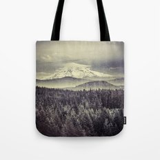 Mountains and Forest - Mt. Hood Mountain Remember the Snow Tote Bag