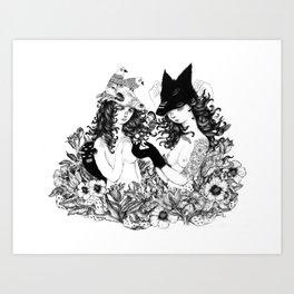 Curious Art Print