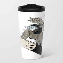 Snowboarder Metal Travel Mug