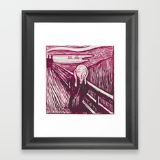 The Scream's Haze (pink) Framed Art Print