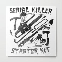 SERIAL KILLER STARTER KIT. Metal Print