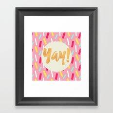 Yay Confetti Framed Art Print