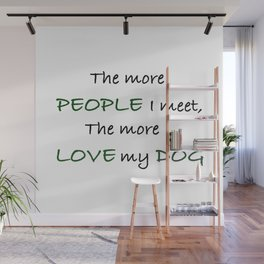 Love my Dog Wall Mural