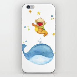 Baby whale iPhone Skin