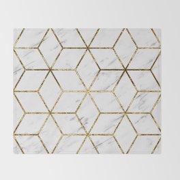 Gatsby golden marble Throw Blanket
