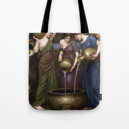Danaides by  John William Waterhouse Tote Bag