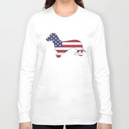 "Dachshund ""American Flag"" Long Sleeve T-shirt"