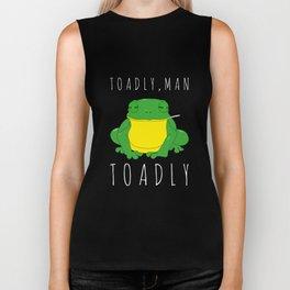 Toadly, Man. Toadly Funny Smoking Toad Frog Amphibian Medical Student Biker Tank