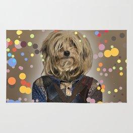 Shaggy Mixed-breed dog I - Pop version Rug