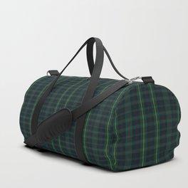 Green and Blue Plaid Duffle Bag