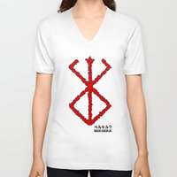 berserk V-neck T-shirts featuring Berserk Sacrifice by Vortha