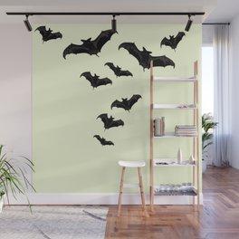MYRIAD BLACK FLYING BATS DESIGN Wall Mural