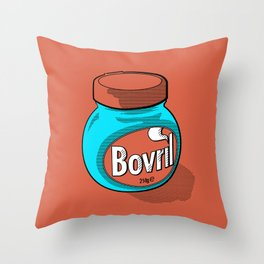Bovril dreams in tangerine Throw Pillow